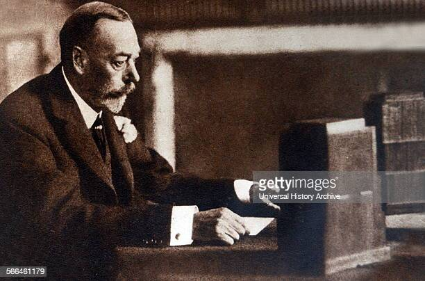 King George V of Great Britain Radio Christmas broadcast