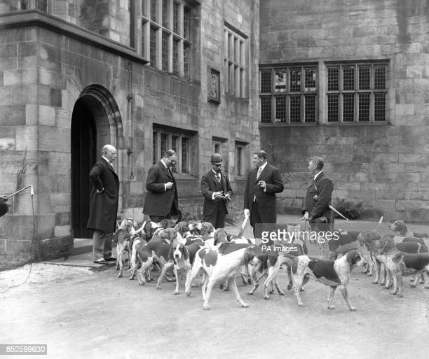 King George V with the Holcombe Hounds at Hoghton Tower
