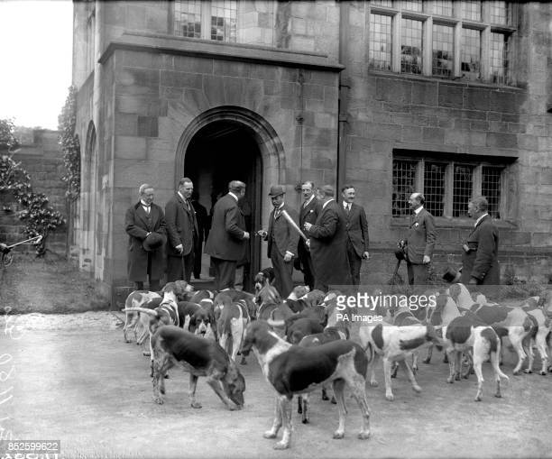 King George V with the Holcombe Hounds at Hoghton Towers