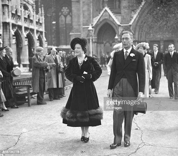 King George VI And Queen Elizabeth Leaving St. Margaret's