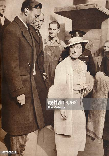 'King George VI and Queen Elizabeth seen leaving a reheasal from their Coronation Service at Westminster Abbey, May 5th', 1937. From The Coronation...
