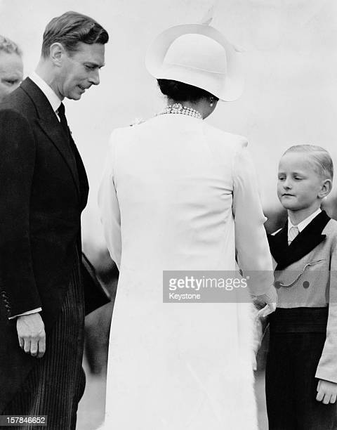 King George VI and Queen Elizabeth unveil the Villers–Bretonneux Australian National Memorial in the Somme during their State Visit to France 22nd...