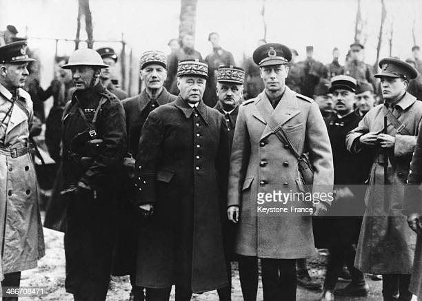 King George VI During a tour of the battlefronts in france here with General Gamelin in 1939