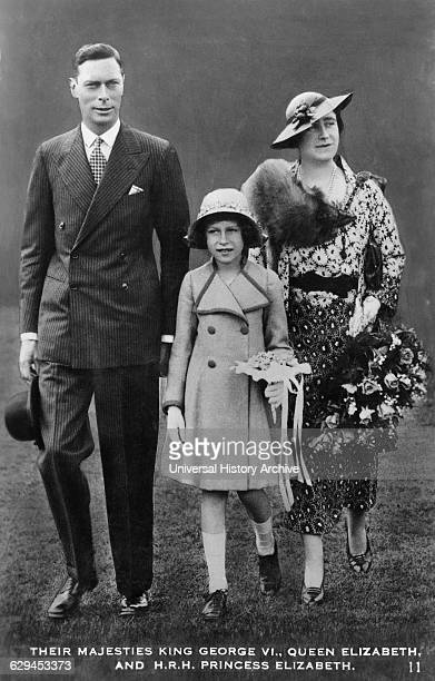 King George VI, Queen Elizabeth, of United Kingdom, Princess Elizabeth, Portrait, circa late 1930's.