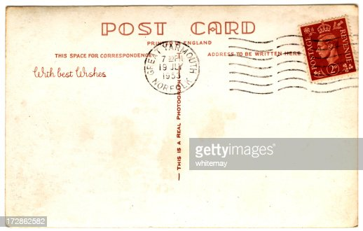king george vi stamped postcard 1953 stock photo getty images