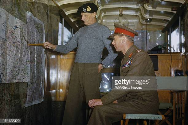 HM King George VI With The British Liberation Army In Holland 13 October 1944 During a tour of the 2nd Army area HM King George VI visited the...