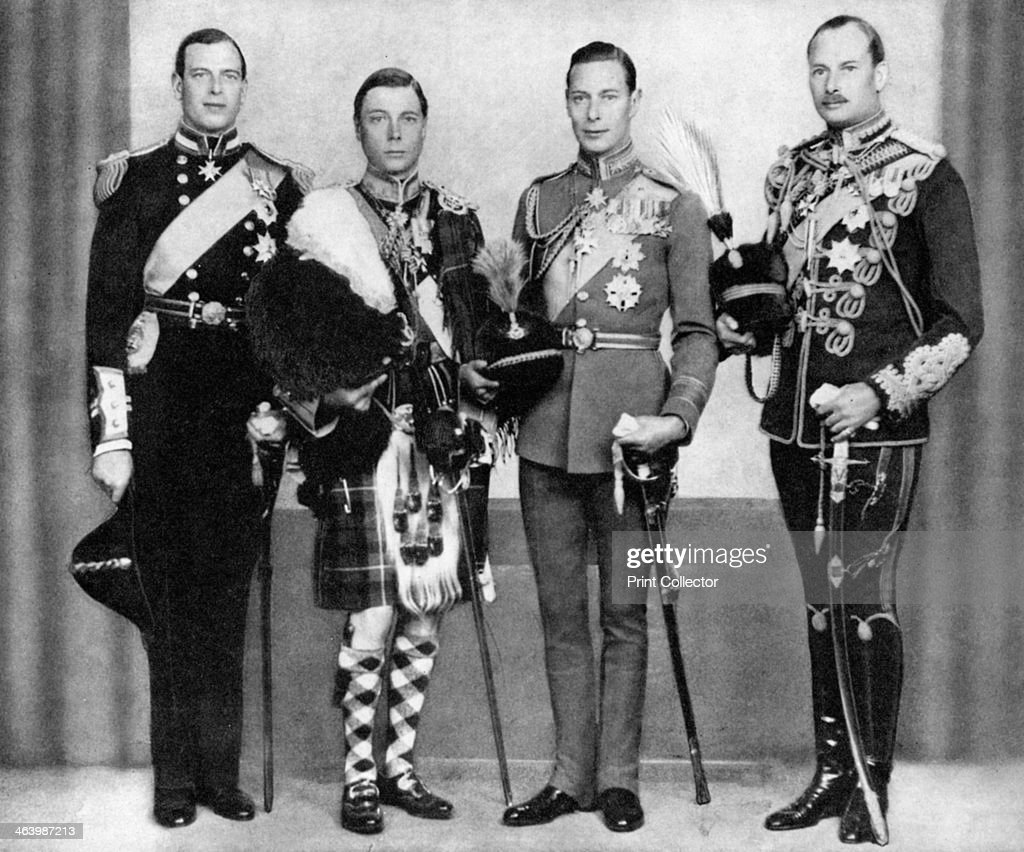 King George V's sons, 1933, (1936). : News Photo
