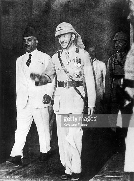 King GHAZI I of Iraq a short time before his death in a car crash on April 4 1947