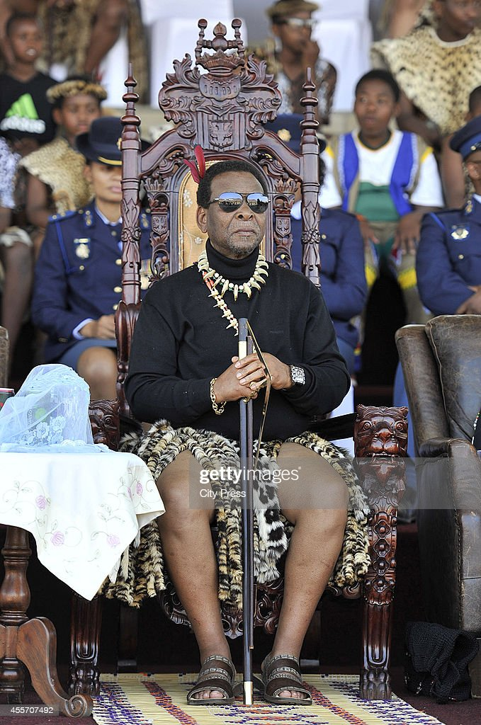 King Goodwill Zwelithini At The Annual Reed Dance At