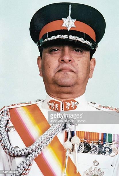 King Gyanendra of Nepal in full military regalia.
