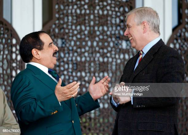 King Hamad bin Isa Al Khalifa of Bahrain and Prince Andrew, Duke of York attend the Endurance event on day 3 of the Royal Windsor Horse Show in...