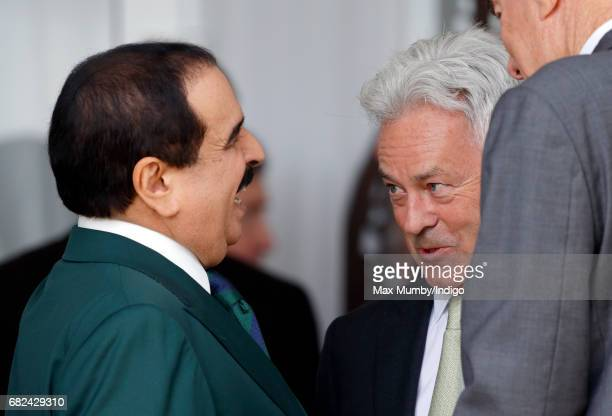 King Hamad bin Isa Al Khalifa of Bahrain and Sir Alan Duncan attend the Endurance event on day 3 of the Royal Windsor Horse Show in Windsor Great...