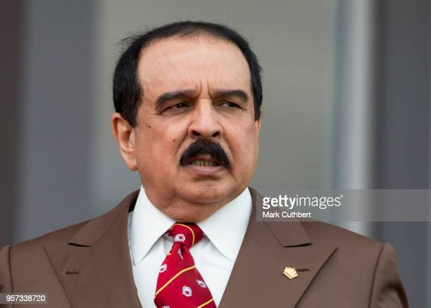King Hamad bin Isa Al Khalifa of Bahrain attends the Royal Windsor Endurance event at the Royal Windsor Horse Show at Home Park on May 11, 2018 in...
