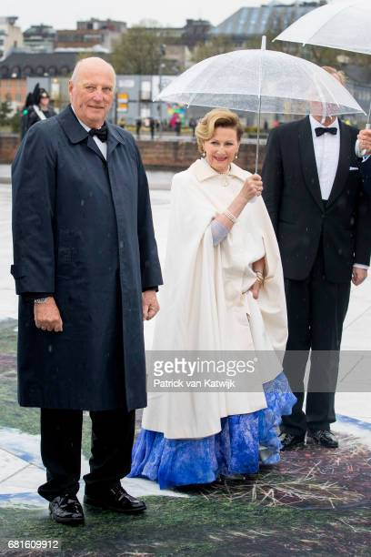 King Harald and Queen Sonja of Norway arrive at the Opera House on the ocassion of the celebration of King Harald and Queen Sonja of Norway 80th...
