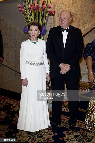 King Harald And Queen Sonja Of Norway Attend The Norwegian Nobel Committee'S Banquet At The Grand Hotel Oslo