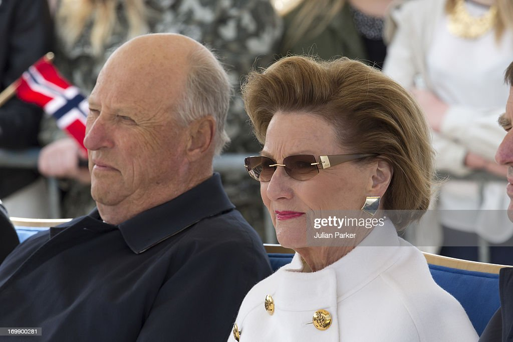 King Harald V And Queen Sonja Of Norway Visit The County Of Sor-Trondelag - Day 1