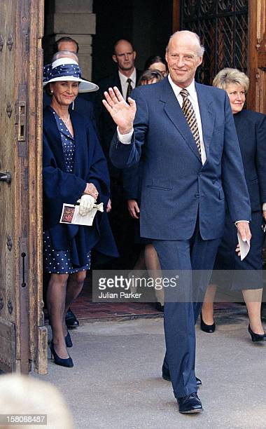 King Harald And Queen Sonja Of Norway State Visit To Latvia Visit To Riga Cathedral