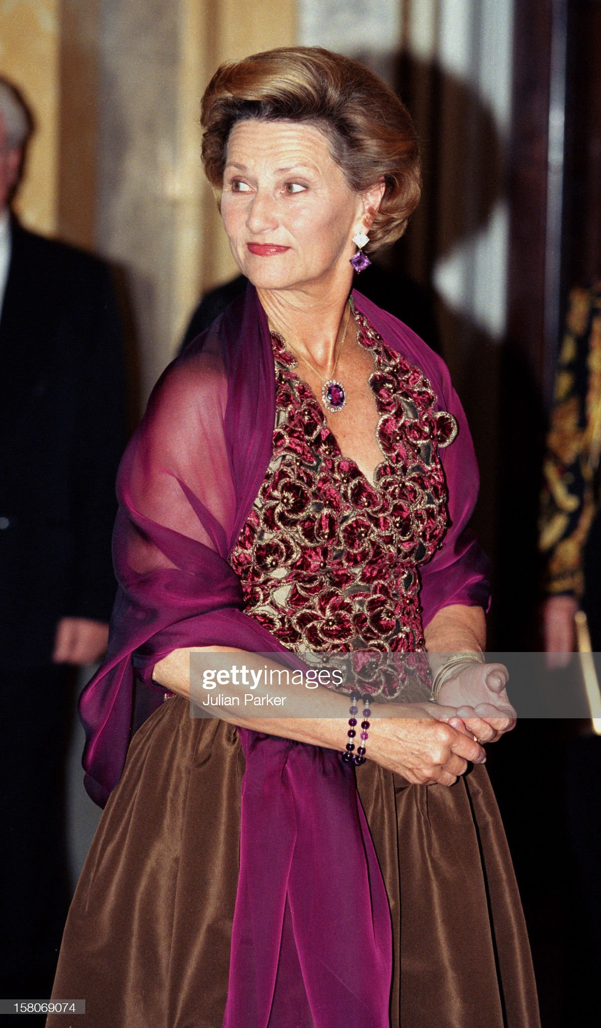 King Harald, And Queen Sonja Of Norway, State Visit To Romania 1999 : News Photo