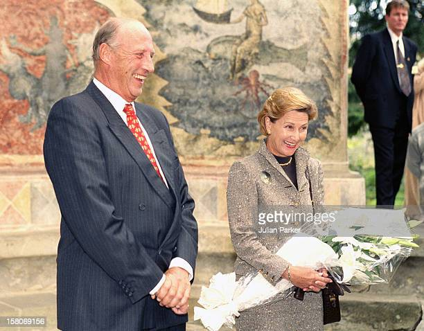 King Harald, And Queen Sonja Of Norway, State Visit To Romania, Visit A Monastery For Nuns At Voronet In The Provence Of Moldavia.