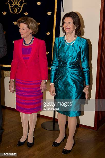 King Harald of Norway and Queen Sonja of Norway host an official visit of King Carl Gustaf and Queen Silvia of Sweden to Norway Queen Sonja and Queen...