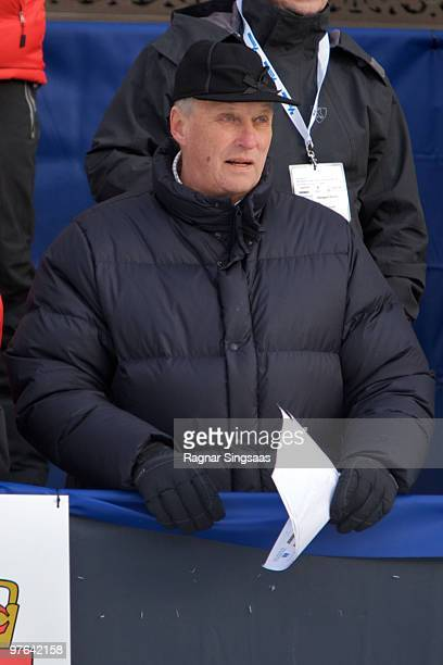 King Harald Of Norway attends the World Cup Sprint on March 11 2010 in Drammen Norway