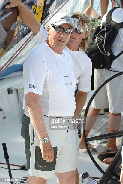 King Harald of Norway during King Harald of Norway on Board of the Fram During the First Day of the Breitling Sailing Trophy in Mallorca July 20 2006...