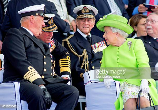 King Harald of Norway Prince Charles Prince of Wales Prince Philip Duke of Edinburgh and Queen Elizabeth II attend the International Ceremony at...