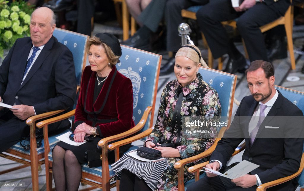 Nobel Peace Prize Award Ceremony 2017 : News Photo