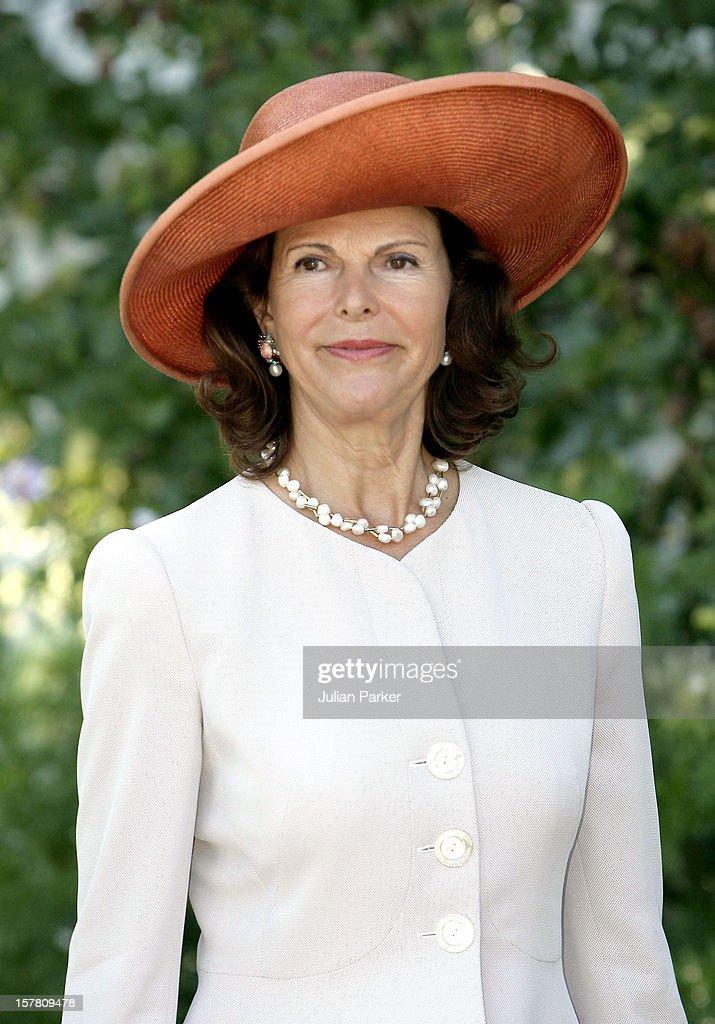 King Harald, Queen Sonja & Crown Prince Haakon Of Norway Visit Sweden : News Photo