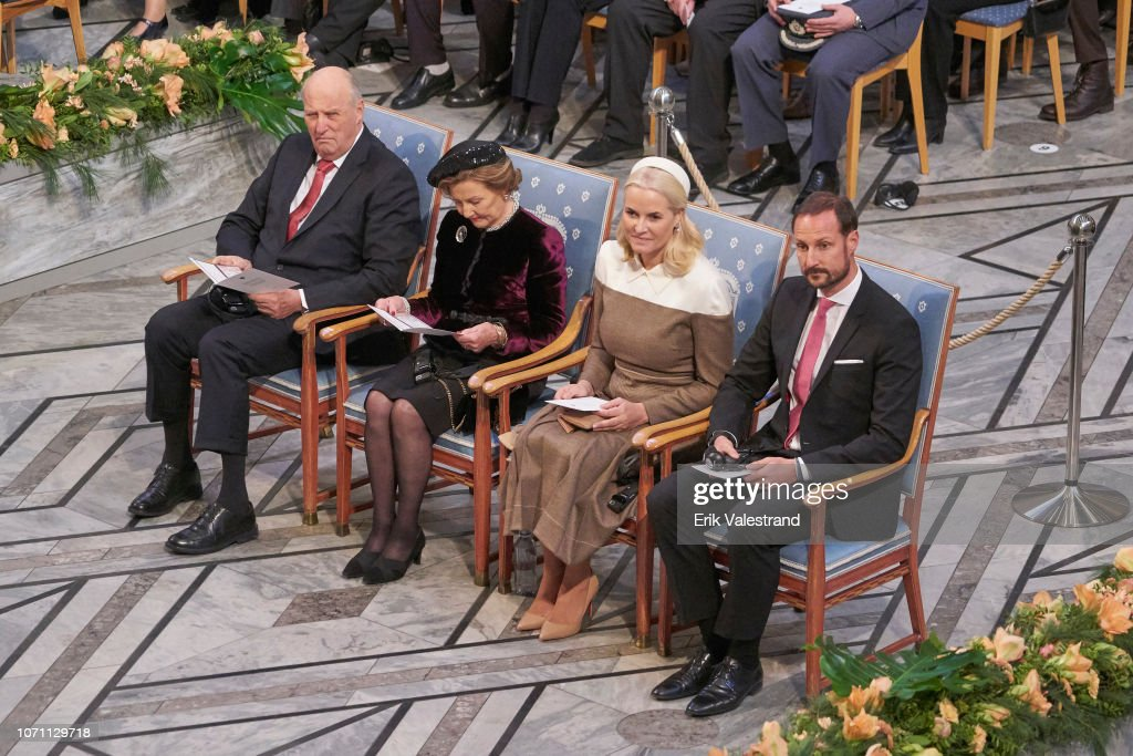 Nobel Peace Prize Award Ceremony 2018 : News Photo