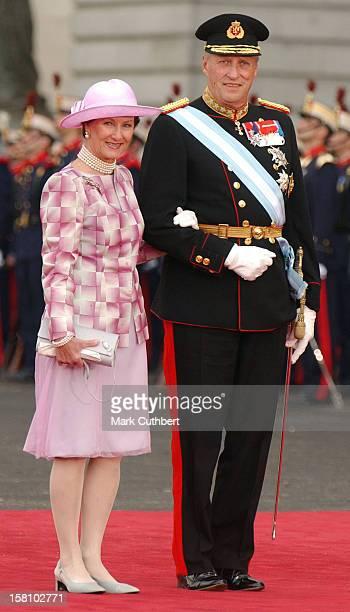 King Harald Queen Sonja Of Norway Attend The Wedding Of Crown Prince Felipe Of Spain Letizia Ortiz Rocasolano In Madrid
