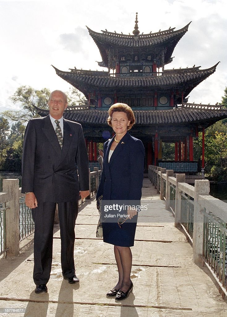 King Harald & Queen Sonja Of Norway'S State Visit To China : News Photo