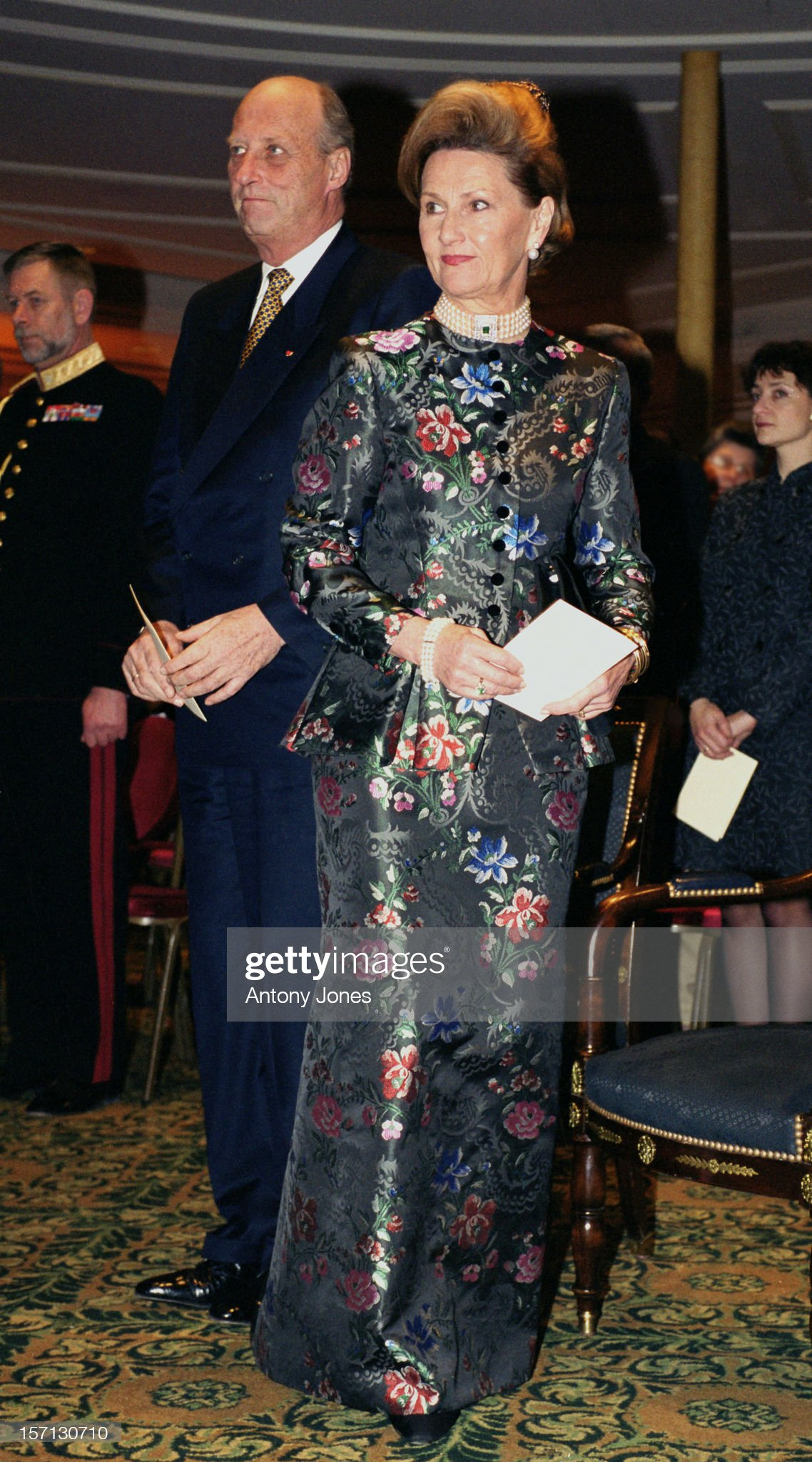 King Harald & Queen Sonja Of Norway - State Visit To France : News Photo