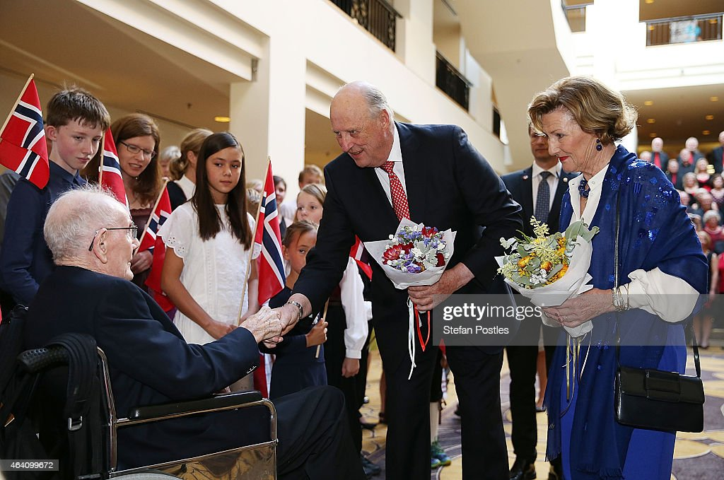 King Harald V And Queen Sonja Of Norway Visit Australia - Day 1 : News Photo