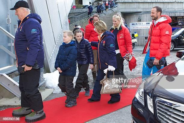 King Harald V of Norway Prince Sverre Magnus of Norway Princess Ingrid Alexandra of Norway Queen Sonja of Norway Crown Princess MetteMarit of Norway...