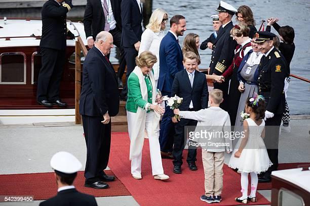 King Harald V of Norway Queen Sonja of Norway Crown Princess MetteMarit of Norway Crown Prince Haakon of Norway Princess Ingrid Alexandra of Norway...