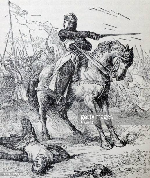 King Harold II of England at the Battle of Hastings 1066