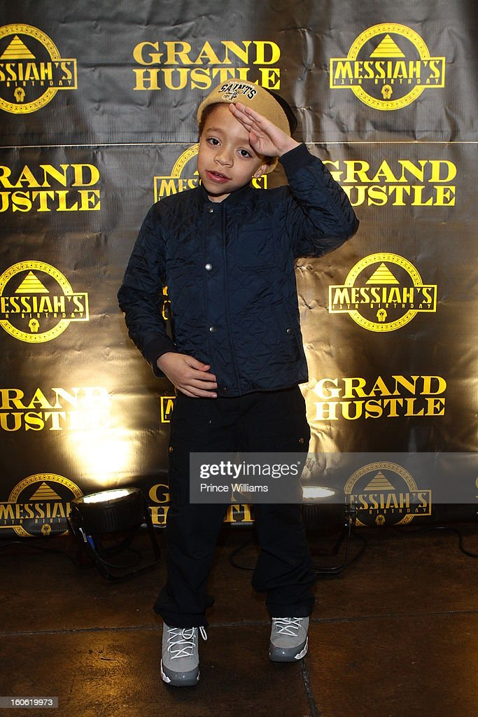 King Harris attends a birthday party for T.I.'s son Messiah at Buckhead Bottlebar on February 2, 2013 in Atlanta, Georgia.