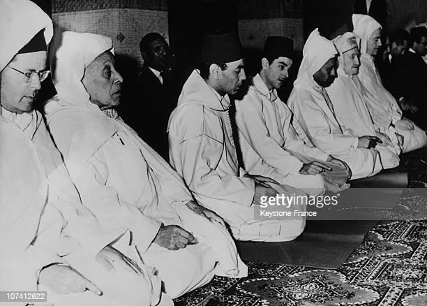 King Hasan Ii Inaugurating Bouznika Mosque On March 15Th 1961