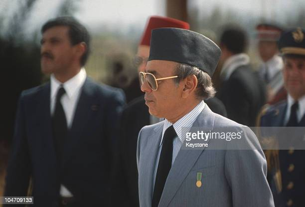 King Hassan II of Morocco during the state visit by Queen Elizabeth II in October 1980