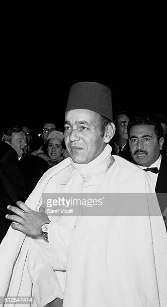 King Hassan II of Morocco posing for a photo on May 5, 1965 in New York, New York.