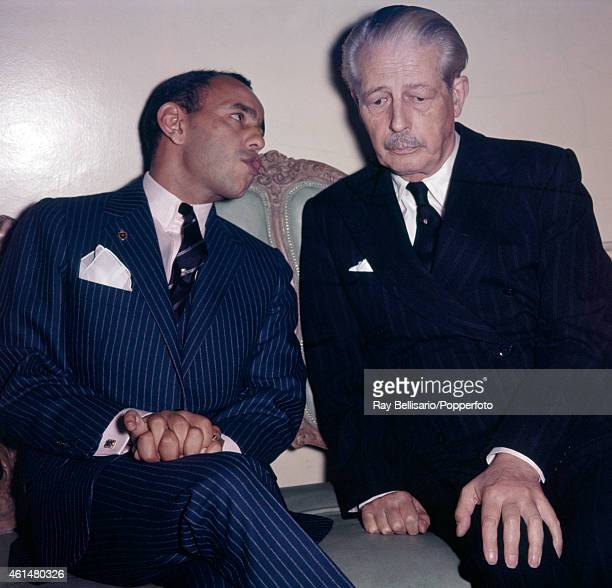 King Hassan II of Morocco with British Prime Minister Harold Macmillan in London circa 1962