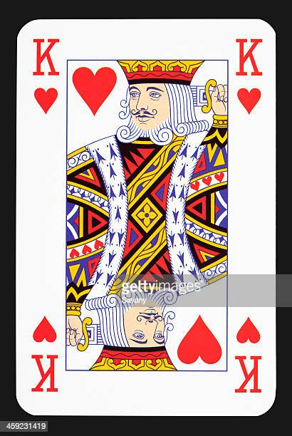 king heart - hearts playing card stock photos and pictures