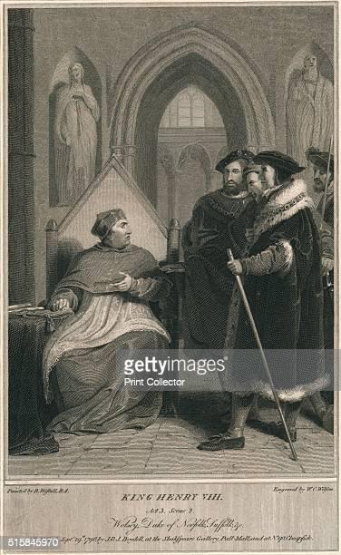 'King Henry VIII Act 3 Scene 2 Wolsey Duke of Norfolk Suffolk c' 1796 After Richard Westall From Shakespeare Gallery Pall Mall by John Boydell [J J...
