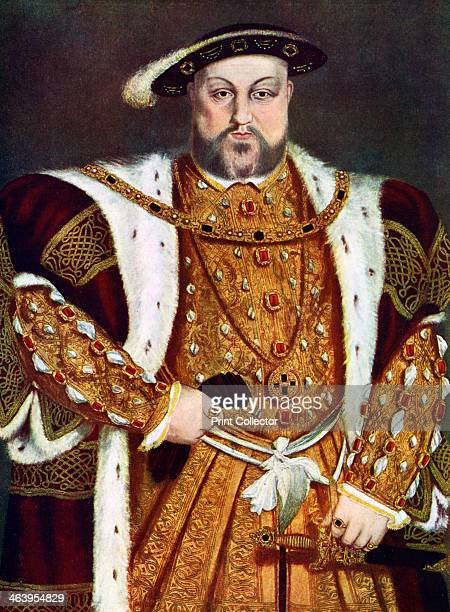 'King Henry VIII' c15381547 A print after a painting in the Royal Collection Windsor Castle from Art History and Literature Illustrations by Jessie...
