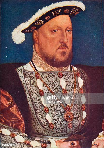 King Henry VIII circa 1537 King Henry VIII Painting held in the Museo ThyssenBornemisza Madrid From The Outline of Art edited by Sir William Orpen...