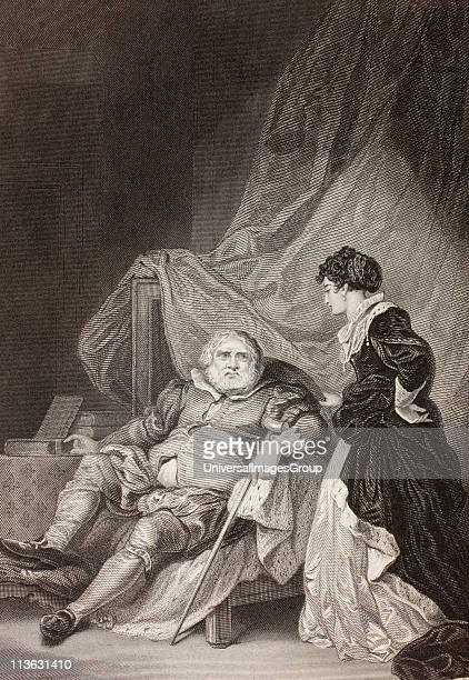 King Henry VIII with his sixth wife Catherine Parr From a nineteenth century print