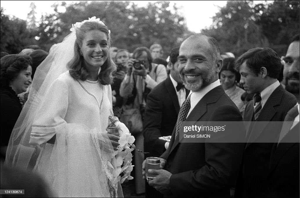 King Hussein And Elizabeth Halabi'S (Liza Nour) Wedding In Amman, Jordan On June 15, 1978. : News Photo