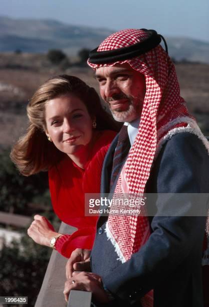 King Hussein and Queen Noor pose 1979 in Amman, Jordan.