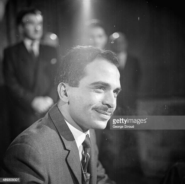 King Hussein of Jordan at London Airport, May 4th 1964.